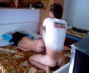 amateur couple bedroom