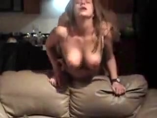 Pounded from behind against the couch