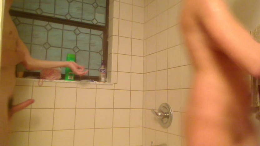 Teens amateur steamy shower