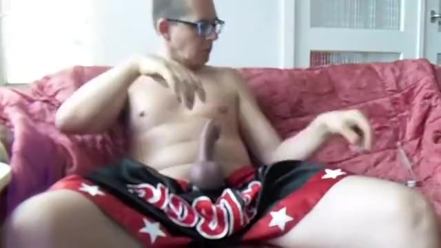Thai Kick-boxer-short ejaculation