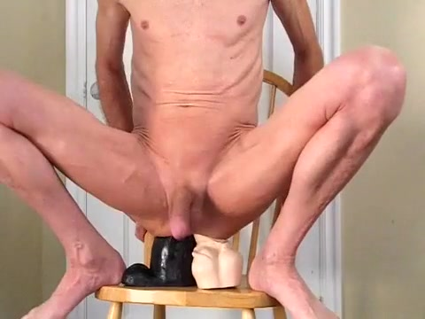Double Anal and in my A-Hole with 2 Massive Dildos