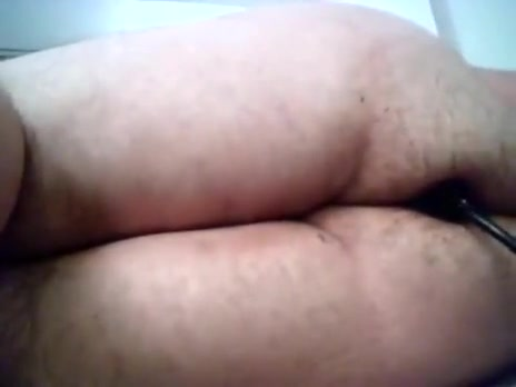 1St clip: my chubby a-hole taking inflatable sex tool.