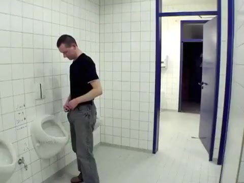 Jerk off and selfsuck in public toilet