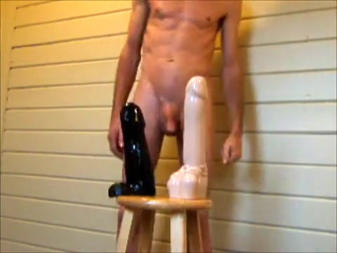 Double Anal Ass Stretching and Fucking Huge Dildos