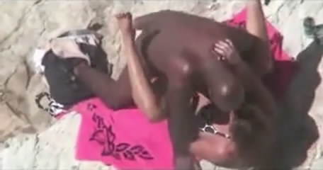 Beach couples voyeur caught on hidden voyeur camera in nature's garb at beach