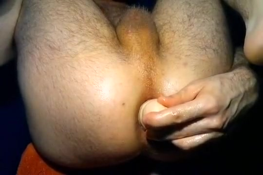 Playing with 12 inch double header sex toy
