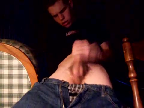 Hot boy jerks off on home made video