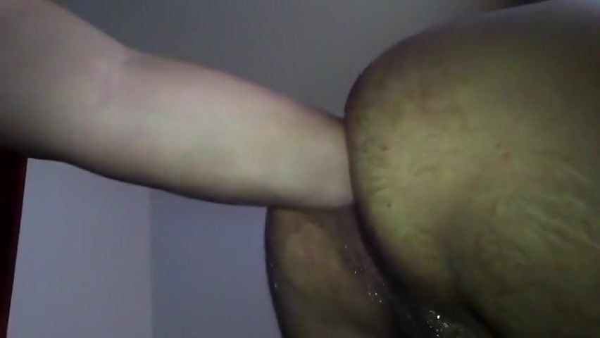 fisting and black dildo fucking