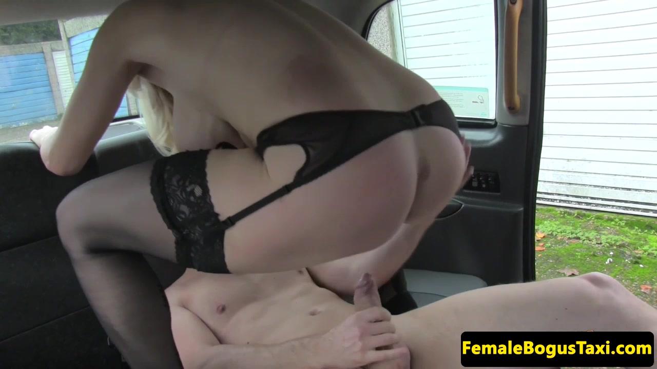 Busty brit cabbie vagina railed on backseat
